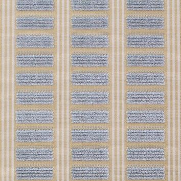 Scalamandre Fabric 26854M-005 Genie French Blue On Beige