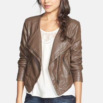 Thread & Supply Faux Leather Moto Jacket (Juniors) (Online Only)   Nordstrom
