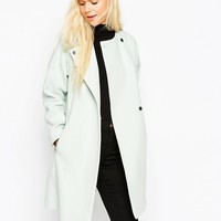 ASOS Coat In Trapeze In Waterfall Front