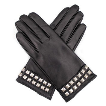 Leather Glove with Studs