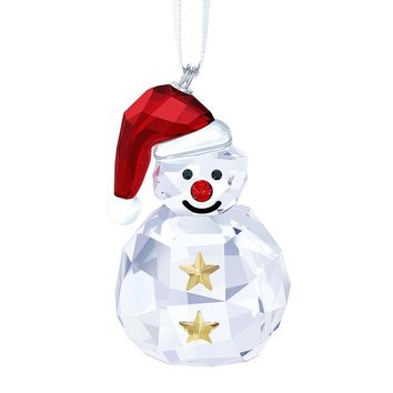 Swarovski Crystal Christmas ORNAMENT ROCKING SNOWMAN #5189475