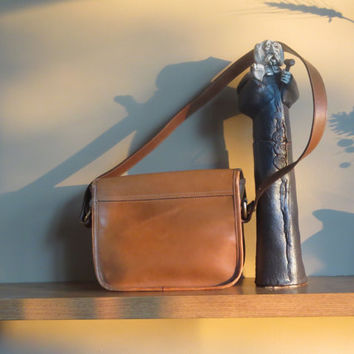 "Ghurka Leather Pouch- Marley Hodgson British Tan Leather No. 19 ""The Pouch""  Boho Registration No. E-50- Circa 1982"