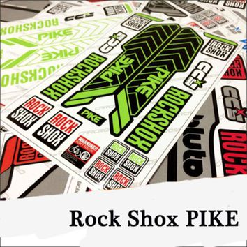 17 PIKE Rock Shox Fork stickers Mountain Bike bicycle Front Fork Decals for MTB Cycling DH Race Dirt replacement Stickers