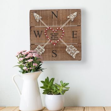 Let Your Heart Be Your Compass String Art
