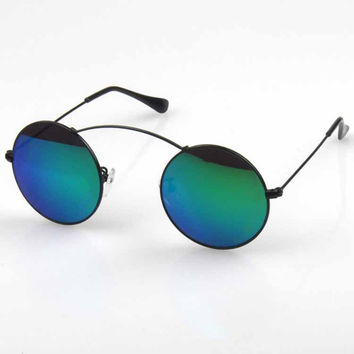 Vintage Mirror Stylish Glasses Sunglasses [6592750915]