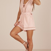 My Own Melody playsuit in blush Produced By SHOWPO