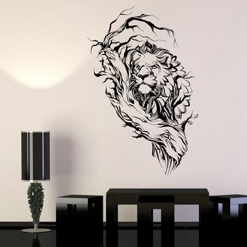 Vinyl Wall Decal African Animals Lion King Nature Landscape Stickers Unique Gift (1441ig)