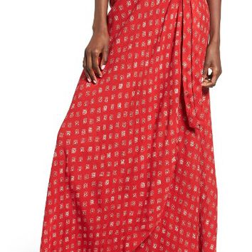 Band of Gypsies Foulard Print Wrap Skirt | Nordstrom
