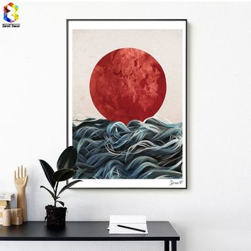Nordic Cuadros Posters And Prints Japanese Wall Art Canvas Painting Pictures For Living Room Scandinavian Home Decoration