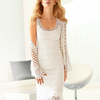 Dress with bolero . Handmade crochet dress .Wedding elegant crochet women dress and bolero