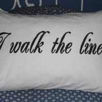 """Lovely Quote """"Because you're mine, I walk the line"""" Hand Painted, Couples Gifts Ideas, Bedroom Decor"""