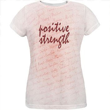 Inspirational Words Positive Strength All Over Womens T Shirt