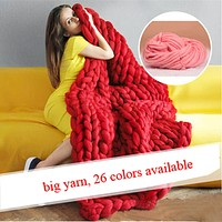 Hand Knitting Blanket Hats Super Thick Merino Wool Chunky Yarn Felt Wool Roving Bulky Yarn Winter Warm 250g/Lot