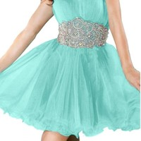 Angel Bride Evening Prom Cocktail Dresses Tulle Homecoming Dresses Short