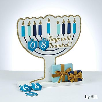 CHANUKAH WOOD COUNTDOWN, 8'x7.5', INCL. 20 NUMBERS, TAG