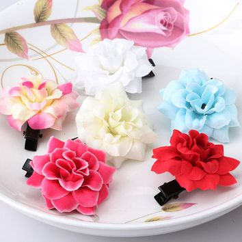 M MISM Lovely Artificial Flowers Cute Hairpins Hair Accessories Ornaments Hairgrip Hair Clips for Girls Kids Head Wear