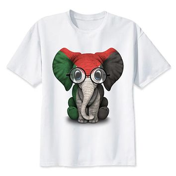 Baby Elephant T-Shirt men Summer fashion casual white print t shirt male comfortable boy top tees