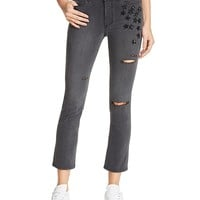 PAIGEJacqueline Straight Crop Jeans in Grey Jupiter - 100% Exclusive