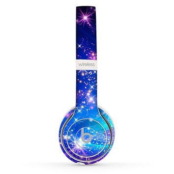 The Glowing Pink & Blue Starry Orbit Skin Set for the Beats by Dre Solo 2 Wireless Headphones