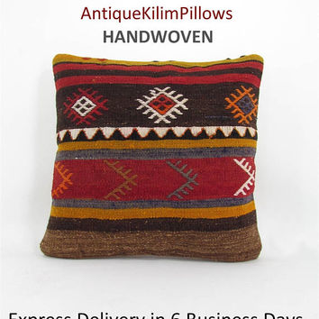 rug pillow decorative pillows kilim pillow cover kelim throw pillow kilim rug cushion cover home decor pillows 000962