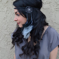 Grey & Black Dreamcatcher Headband #A1013