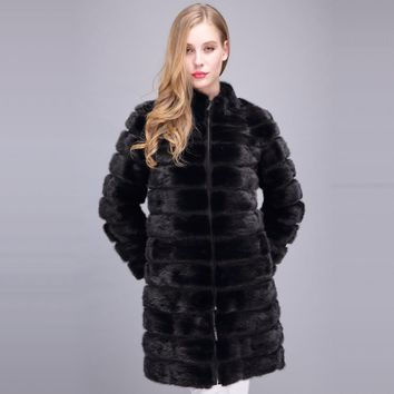 DHL Real mink fur coat Detachable genuine leather garment women fur winter fur coat women natural mink fur jacket