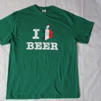 "13-1206 I ""heart"" Beer T Shirt / I ""Ireland"" Beer T Shirt / T Shirt / Irish / TShirt"