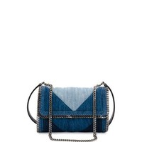 Stella McCartney Patchwork Denim Shoulder Bag, Blue