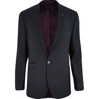 River Island MensDark teal slim suit jacket