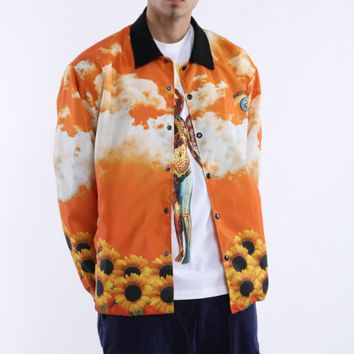 Bee rap jacket with vertical collar [4166074662948]