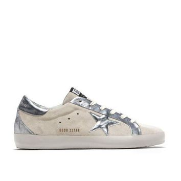 DCC3W GOLDEN GOOSE DELUXE BRAND SUPERSTAR BESPOKE SNEAKERS WHITE/SILVER