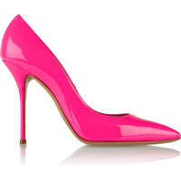 Casadei Neon patent-leather pumps – 55% at THE OUTNET.COM