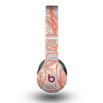 The Coral Abstract Pattern V34 Skin for the Beats by Dre Original Solo-Solo HD Headphones