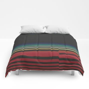 Let's Stripe Comforters by DuckyB