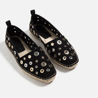 RING DETAIL ESPADRILLES - View all-SHOES-WOMAN | ZARA United Kingdom
