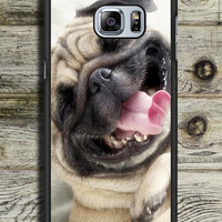 Smile Pug Dog Samsung Galaxy S6 Edge Plus Case