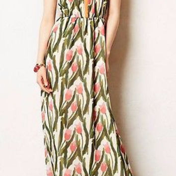 NWT Anthropologie Portia Maxi Dress Sz 0 P - By Vineet Bahl
