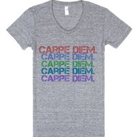 Carpe Diem.-Female Athletic Grey T-Shirt