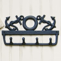 Anchor and Life Preserve Wall Hook - Choose Your Color - Colorful Cast and Crew