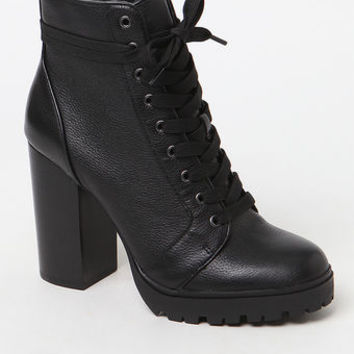 Steve Madden Heeled Combat Booties at PacSun.com