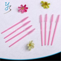 Women Eyelash Brush One-Off Disposable Cosmetic 200pcs Nylon Pink Mascara Applicator Wand Brush Makeup Tool