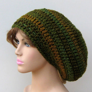 Ozark Forest Tam Dread Hippie Slouchy Dreadlocks Crochet Beanie Hat