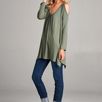 Giving the Cold Shoulder Tunic