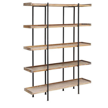 Wingate Rustic Wood And Metal 4 Shelf Etagere By Crestview Collection Cvfzr2246