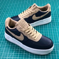 Nike Air Force 1 Low Snakeskin Dark Blue/khaki Shoes - Best Online Sale