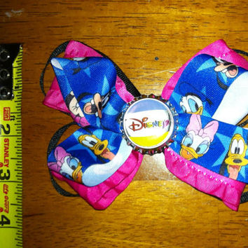 Disney Hair Bow- Mickey Mouse, Minnie Mouse, Donald Duck, Goofy, Daisy, Pluto
