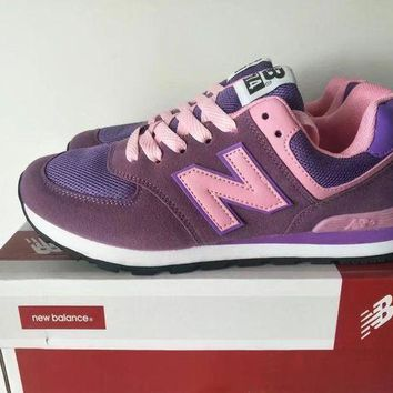 DCCK1IN new balance 574 women sport casual multicolor n words sneakers running shoes  9