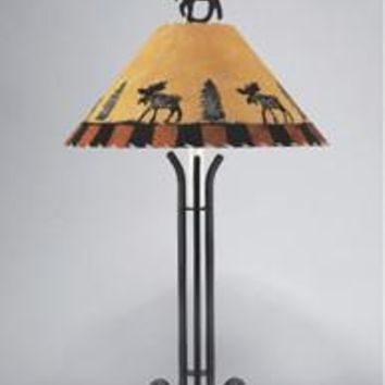 Northwoods Moose Steel Lamp -35""