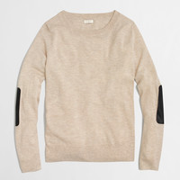 Factory leather-patch Charley sweater : charley | J.Crew Factory