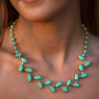 Mint To Be Collar Necklace